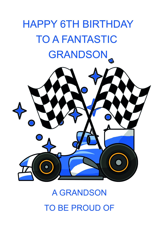 Grandson 6th Birthday Card Etsy
