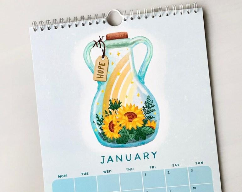 2021 Wall Calendar by Luisa Azevedo hey.luisa Positivity image 4