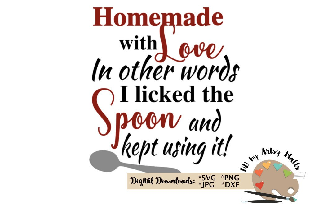 Download Homemade with love svg cooking baking svg cut file funny ...