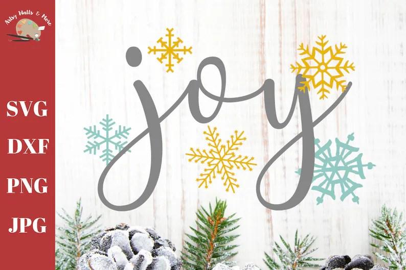 Download Joy svg cut file Joy with snowflakes svg cut file cute ...