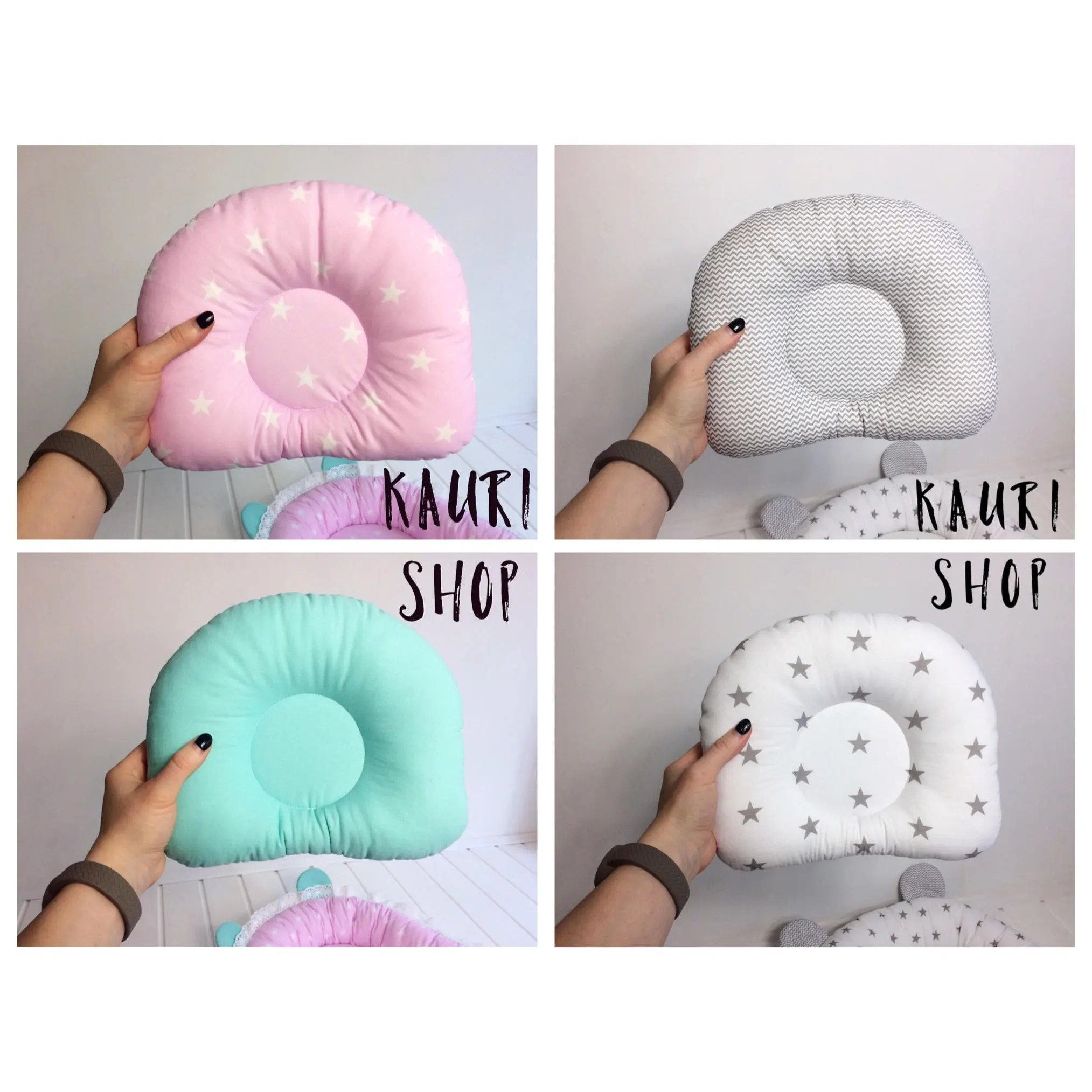 custom order pillow cotton newborn baby infant pillow neck support cot anti roll prevent flat head