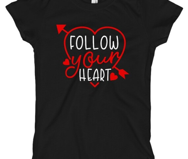 Kids Valentines Day Shirt Baby Girls Valentine Outfit Clothes Bodysuit Follow Your Heart Toddler T Shirt First Valentine