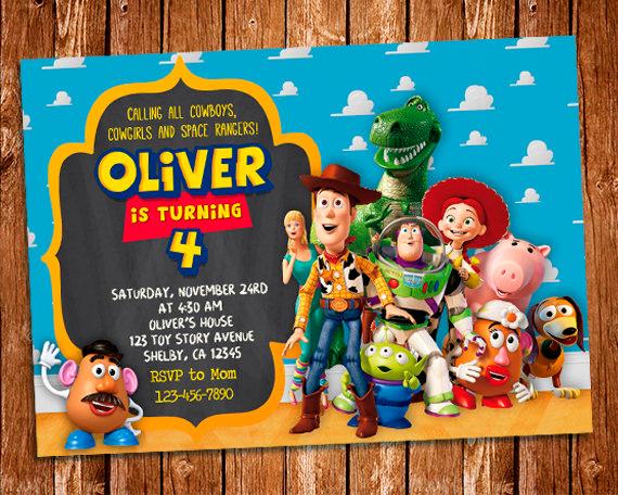 Toy Story Invitation Toy Story Printable Birthday Invitation Buzz Lightyear Woody Toy Story Party Toy Story Birthday Toy Story
