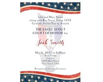 Eagle Scout Invite Etsy