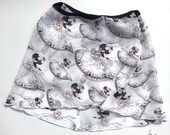 Ballet skirt for children in white with cute dance print, individual item