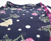 Ballet wrap skirt Nightflower, individual piece, handmade