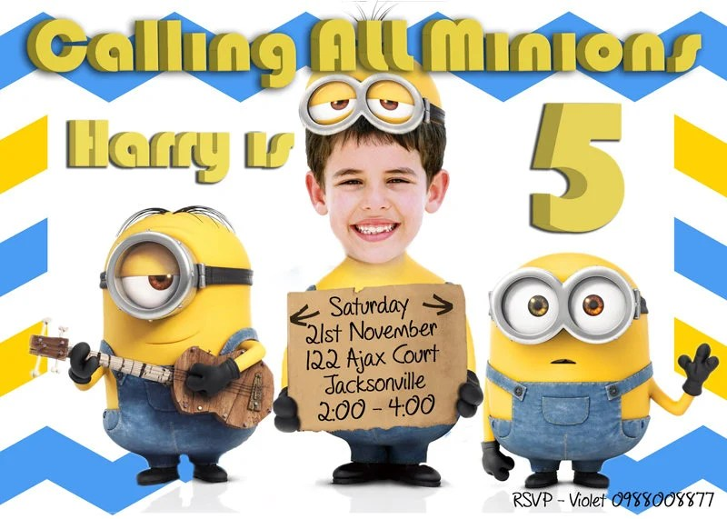 minions invitation minions birthday
