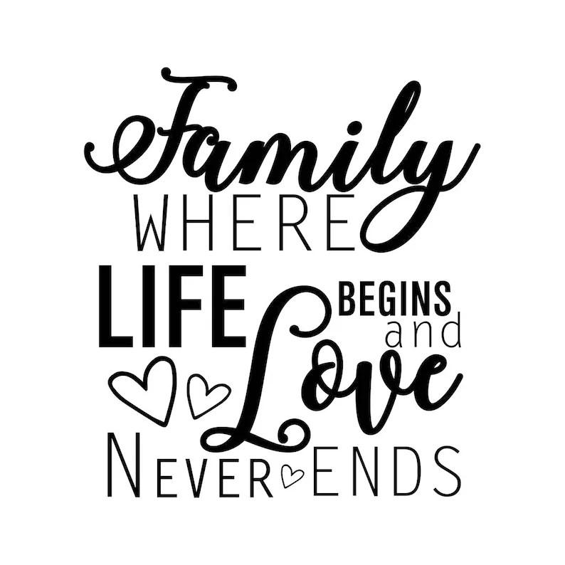 Download Familie wo das Leben beginnt und Liebe niemals endet   Etsy