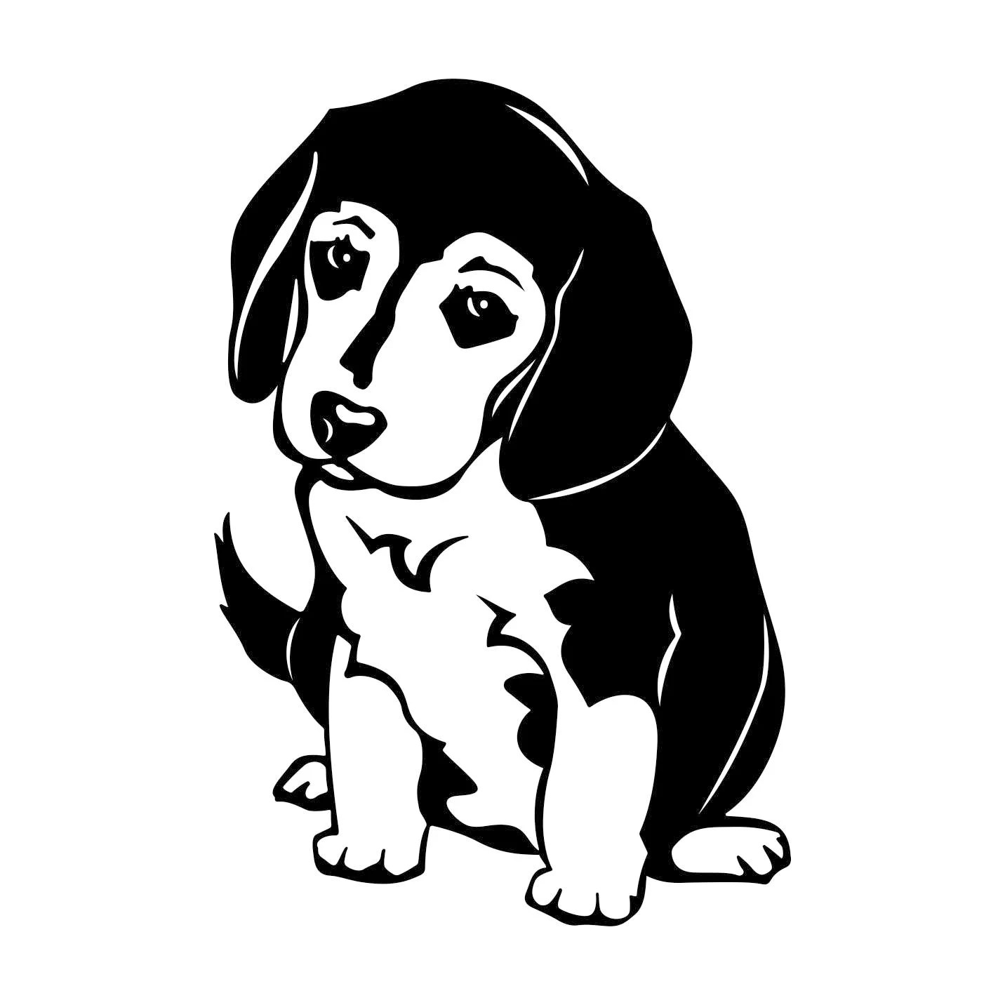 Beagle Dog Graphics Svg Dxf Eps Cdr Ai Vector Art