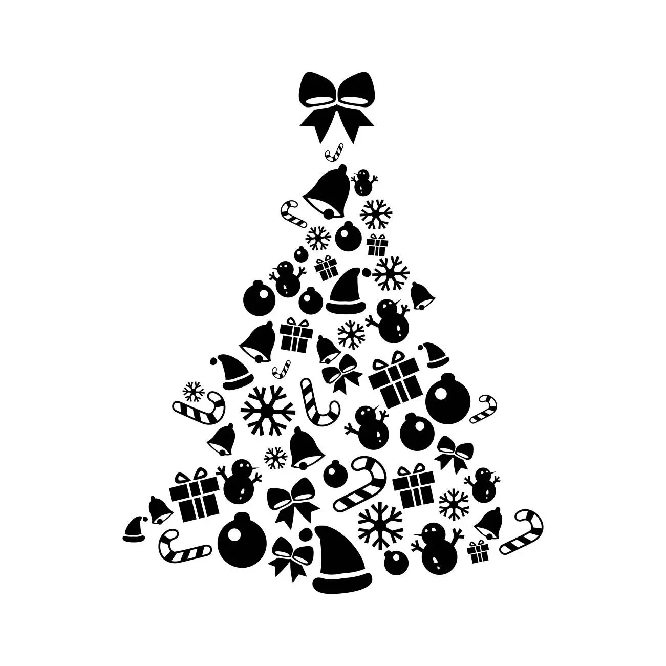 Christmas Tree Elements Graphics Svg Dxf Eps Cdr Ai