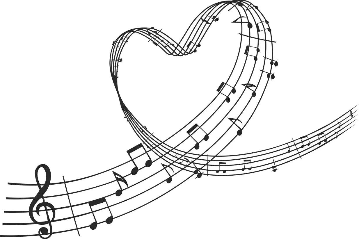 Violinschlussel Herz Noten Grafiken Svg Dxf Eps Cdr Ai