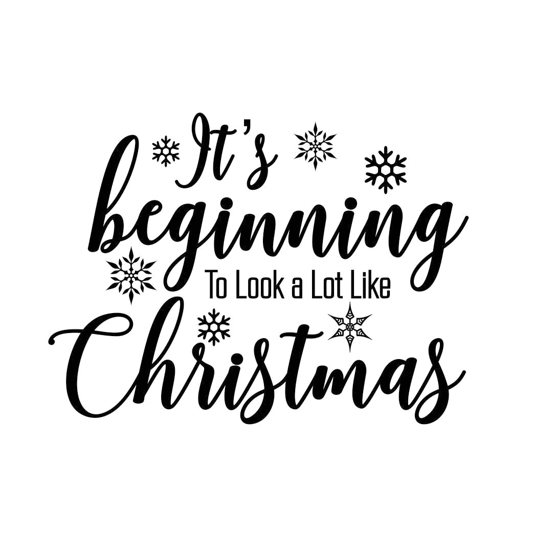 Its Beginning Christmas Quote Phrase Graphics Svg Dxf Eps