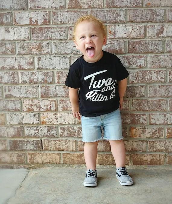 2nd Birthday Shirt Boy 2 Year Old Birthday Boy Shirts Boys Etsy