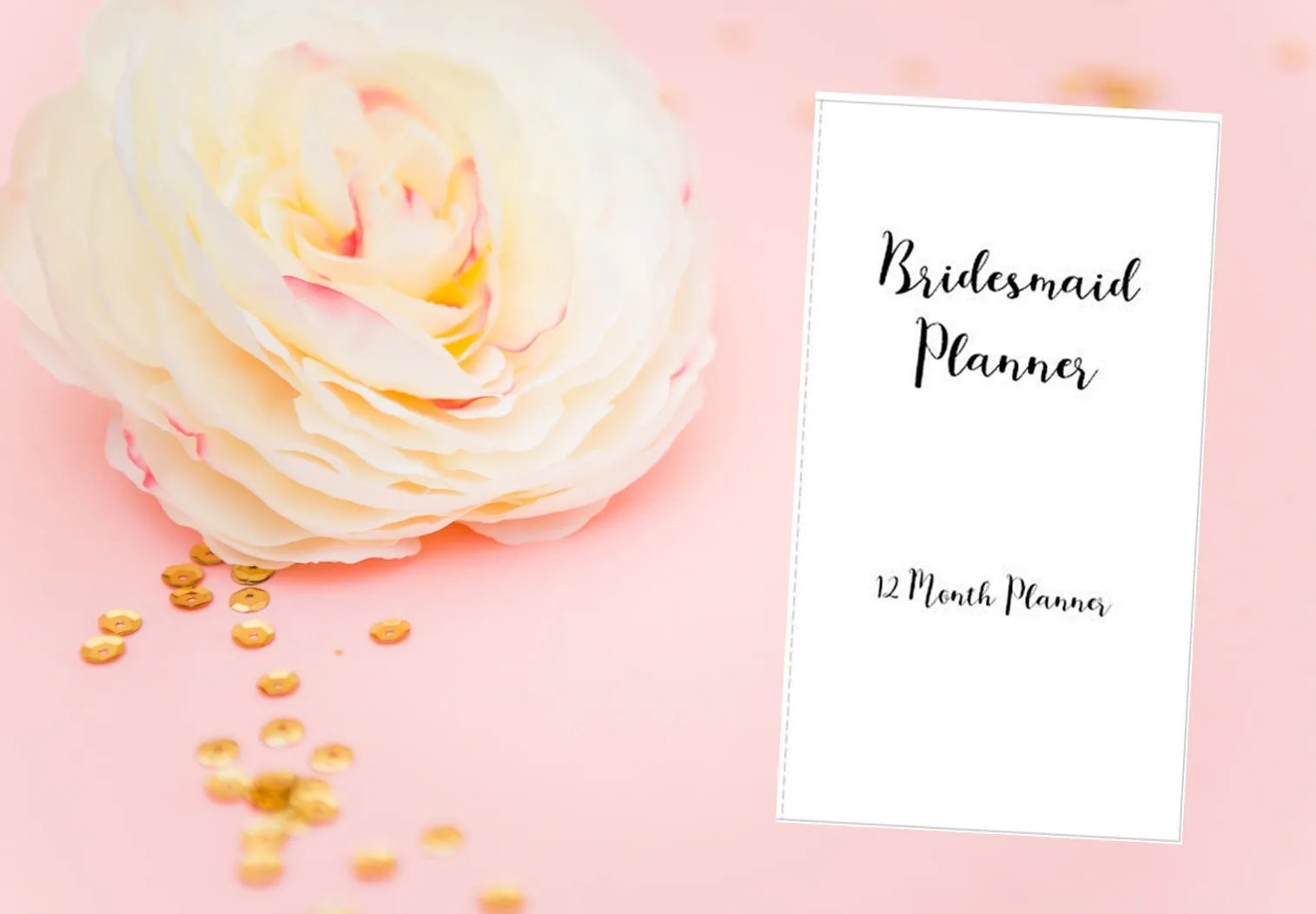 Printable Bridesmaid Planner Wedding Planner Bridesmaid