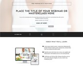 Webinar Signup Elementor Template - Pro Blogger -  Webinar Signup Template | Landing Page for Elementor | Webinar Page for WordPress Website