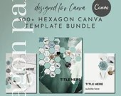 500+ Canva Template Bundle - Hexagon Part 1 - eBook, Workbook, Welcome, Covers, Thank You, Resource Pages, Checklists, Cheatsheets, Banners
