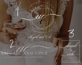 Wedding Logo, Premade Wedding Logo, Branded Wedding, Wedding Theme, Wedding Branding, Geometric Logo, Watermark, Photography Logo