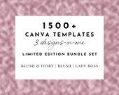 1500+ Feminine Canva Template Bundle | Lady Boss, Blush, Blush & Ivory Collection - Lead Magnets, eBooks, Workbooks, Social Media