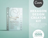 Course Creator Kit for Canva - HEXAGON DESIGN - Lead Magnets, Social Media, Challenge Template, Media Kit, Planner, eBook, Workbooks & More