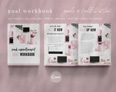 Pink Moodboard Canva Template - Goal Workbook | eBook Marketing | Call to Action | Canva Workbook | Canva eBook | Canva iPad Mockup