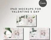 12 iPad Mockups Valentine's Day - Canva Temp - Fully Editable Elements