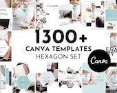 Lead Magnet & Content Upgrade Bundle for Canva - Hexagon Set - Designed for Writers and Bloggers - Bonuses Included