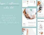 Pro Blogger/Influencer Canva Kit | Canva Template | eBook Template | Media Kit | Blogger Media Kit | About Me Page | About Me Kit