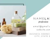 Business Card Canva Template - Turquoise and Grey