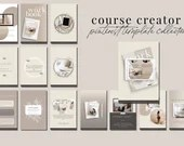 Course Creator Pinterest Templates for Canva - 30 Pinterest Canva Templates for Course or eBook Promotion