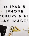 Ipad Mockups Gold Styled Flat Lay Product Mockups Ebook Etsy