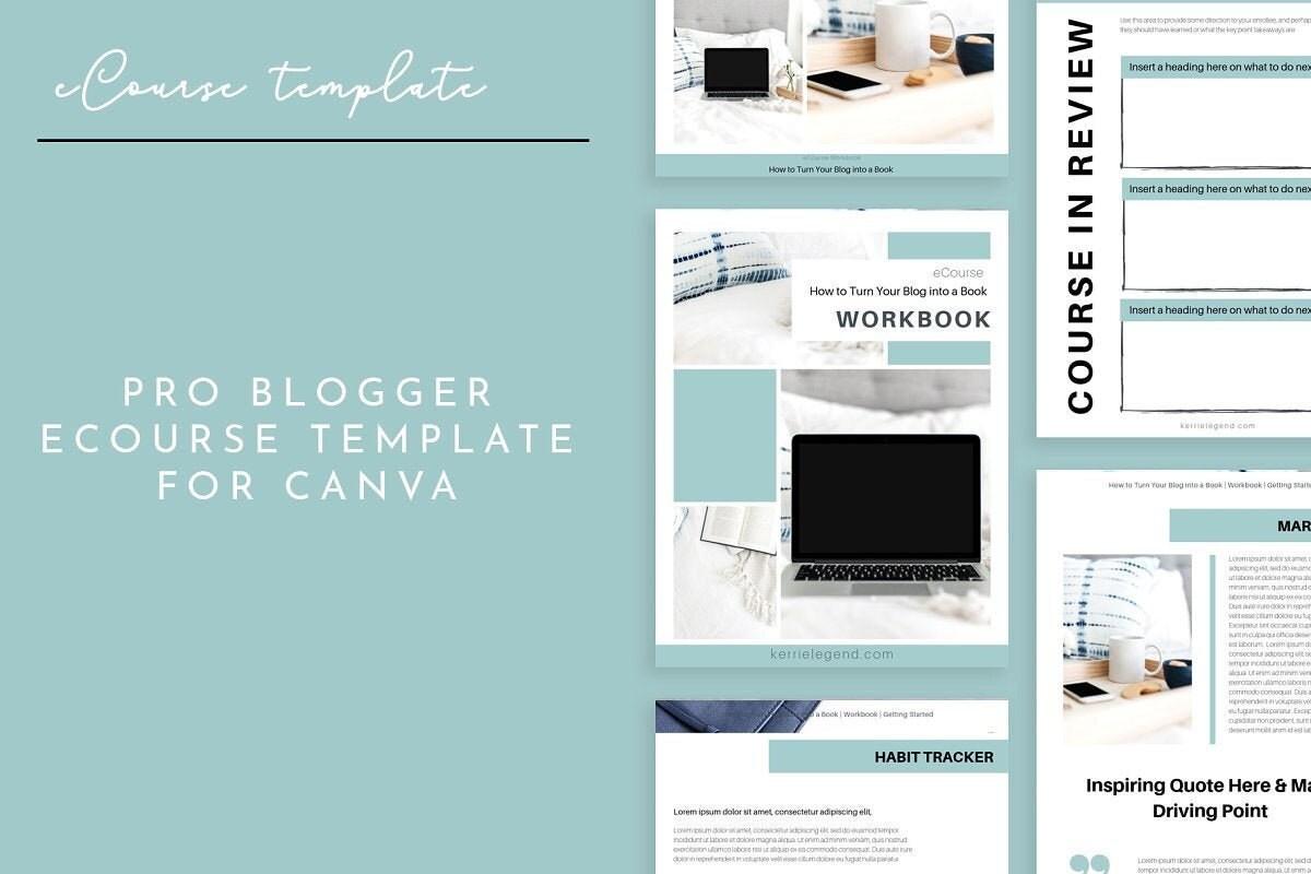 Pro Blogger Ecourse Workbook Canva Template