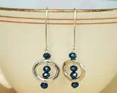 Navy Blue and Sterling Si...
