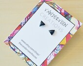 Navy Blue Triangle Stud E...
