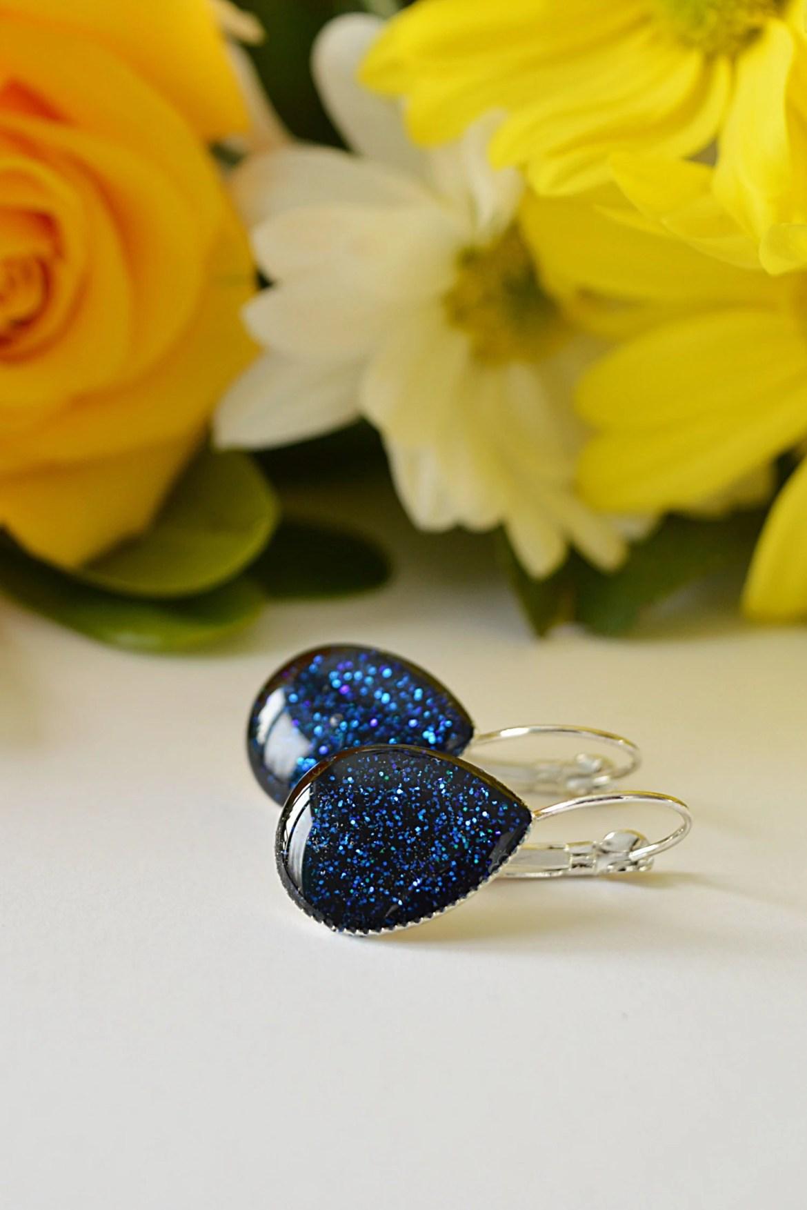 Royal Blue Glitter Teardr...