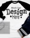 Next Level 6051 Black Raglan Mockup Baseball T Shirt Mock Up Etsy