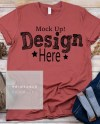 Bella Canvas Unisex 3001 Rust Fall T Shirt Mock Up Fall Shirt Etsy