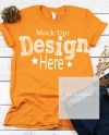 Bella Canvas Unisex 3001 Orange Shirt Mockup Orange Fall T Etsy