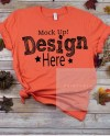 Bella Canvas Unisex 3001 Coral T Shirt Mock Up Fall Shirt Etsy