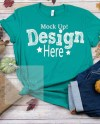 Fall Shirt Mock Up Bella Canvas Unisex 3001 Kelly Green Style Etsy