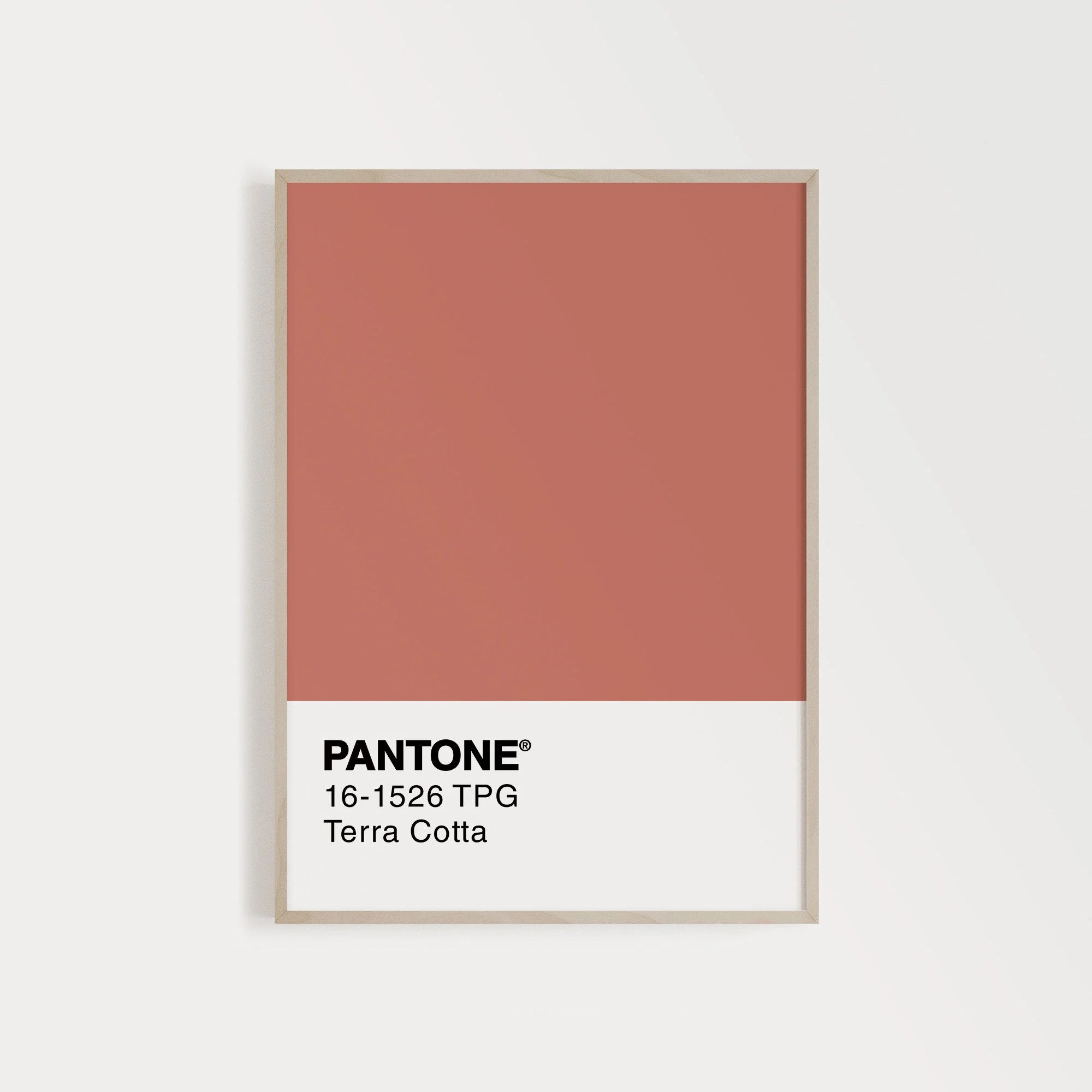 printable pantone poster terracotta print poster scandinave wall decor instant download extra large wall art top selling shops