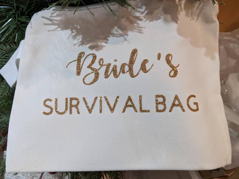 Medium Sized Personalized Cosmetic Bag    Name Wedding Role image 5