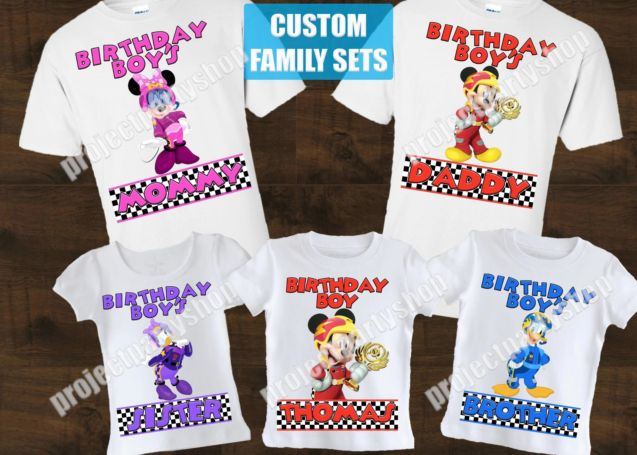 Mickey And The Roadster Racers Family Birthday Shirts Mickey Etsy