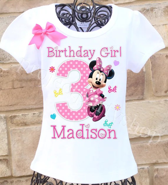 Minnie Mouse Birthday Shirt Minnie Mouse Birthday Outfit Etsy