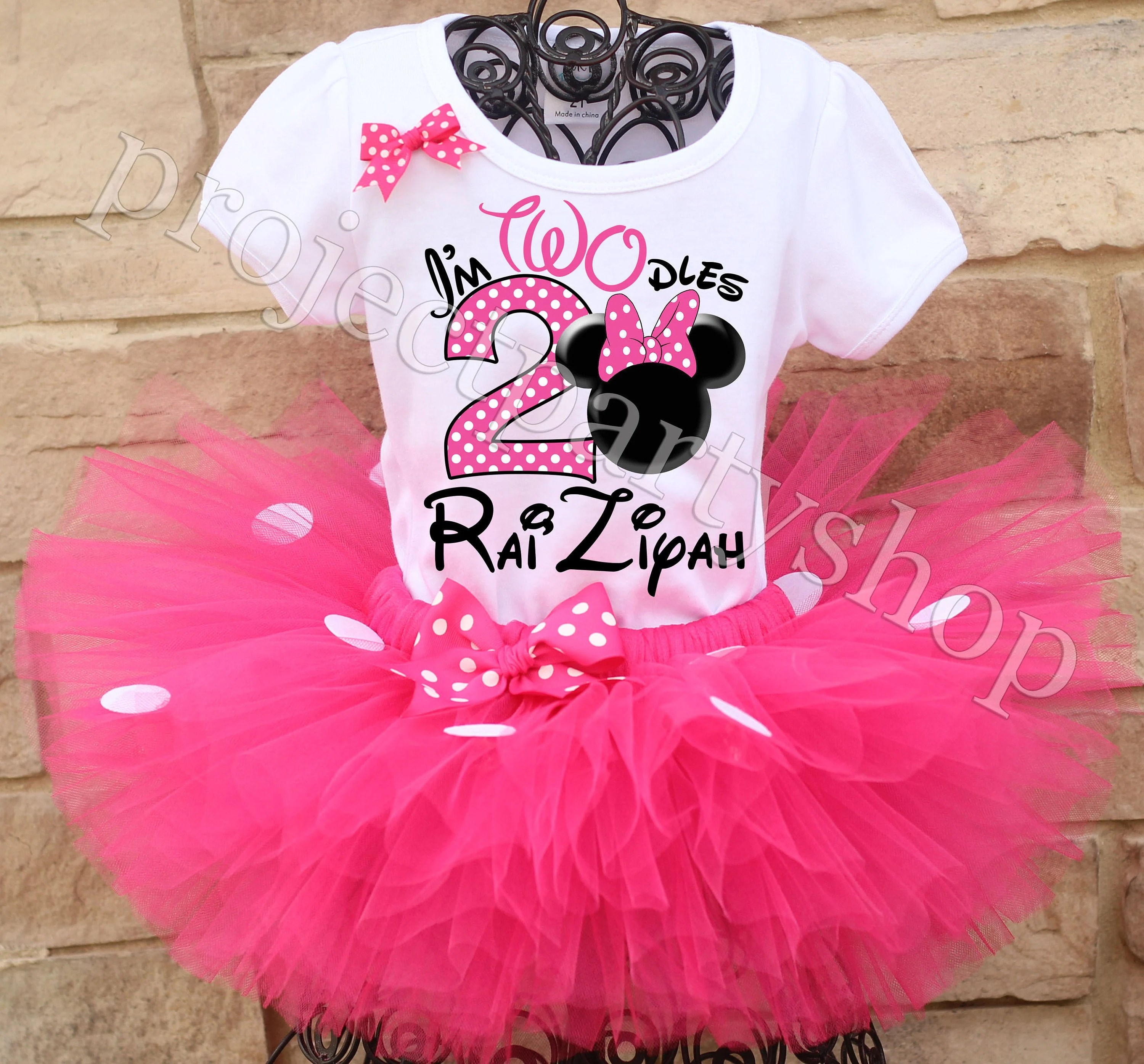 Minnie Mouse Twodles Birthday Tutu Outfit Minnie Mouse Etsy
