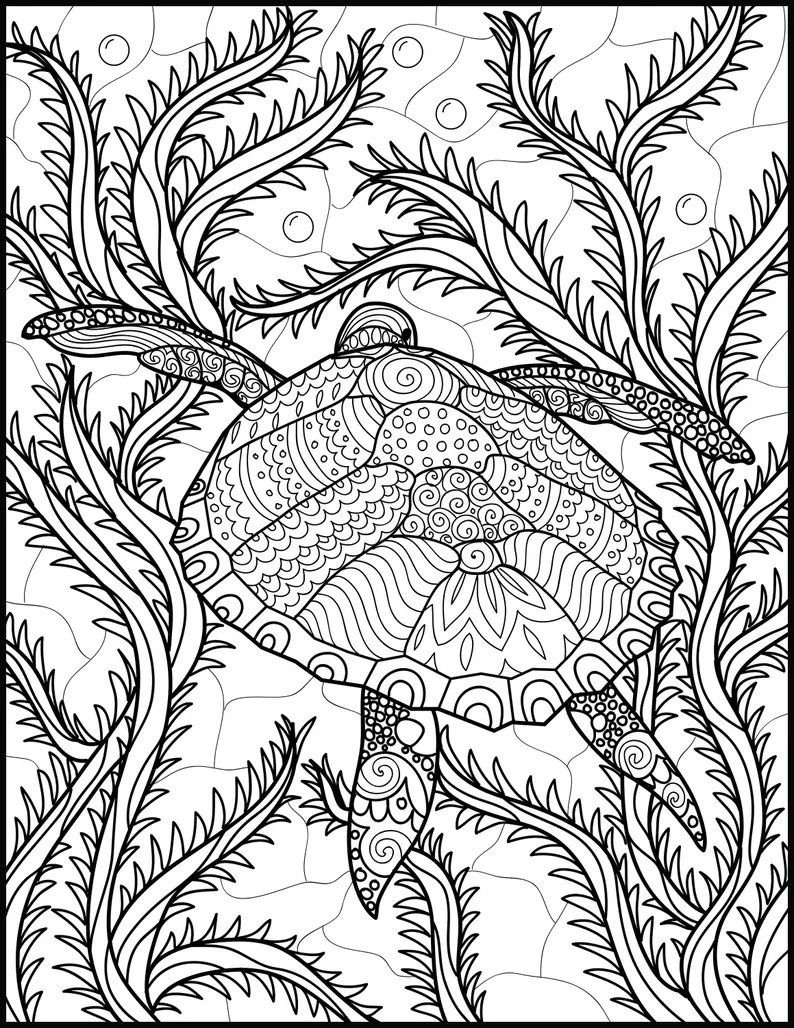 2 adult coloring pages animal coloring page printable  etsy