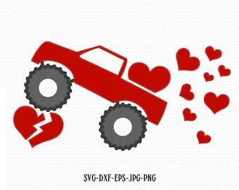 Download Valentines red Truck Svg Valentines vintageTruck ...