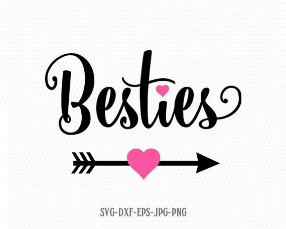 Download Besties svg Valentine SVG Valentines Day SVG Love SVG   Etsy