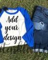 Flat Lay Mockup Jpg File Shirt Mockup Raglan Design Flat Etsy