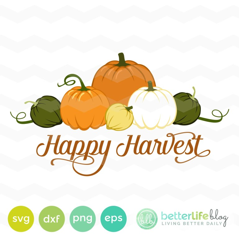 Happy Harvest SVG File: P...