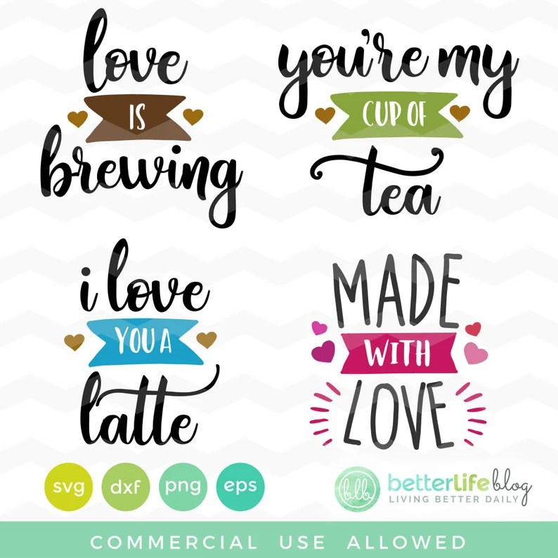 Download Love is Brewing SVG File: I Love You A Latte You're My | Etsy